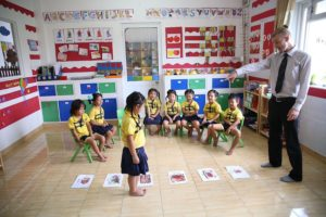 Kids playing in the classroom ABA approach