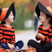 children with hats - halloween safety